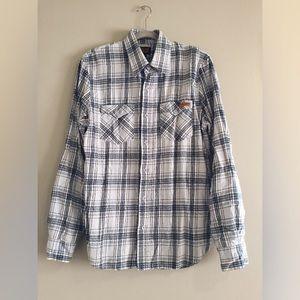 vintage Volcom Workwear blue flannel long sleeve